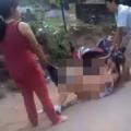 Clip hai mẹ con đánh ghen lột quần áo ở Bình Dương