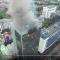 Cao ốc đang cháy ở Kosgoro Jakarta