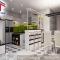 Thiết kế tủ bếp Acrylic hiện đại màu trắng sang trọng ARY1103