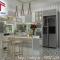 tủ bếp gỗ acrylic cao cấp cho căn bếp rộng