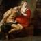 câu chuyện xúc động đằng sau bức tranh cô gái trẻ để lộ bầu ngực, quần áo xộc xệch cho ông lão ngậm.