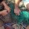 con cá sấu sông Soài Rạp dài 2 m, nặng 70 kg đã mắc lưới.