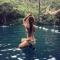 Hoa hậu Du lịch Ngọc Diễm khoe ảnh bikini tại cụm du lịch hang Tối, sông Chày, suối Moọc (Quảng Bình).