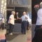 Old man filmed surprising his wife  at airport