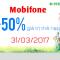 Khuyến mãi Mobifone 31/3/2017