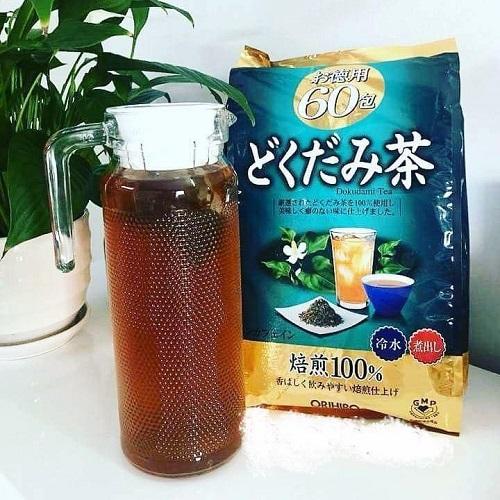 Review trà diếp cá Dokudami Orihiro 60 gói của Nhật Bản